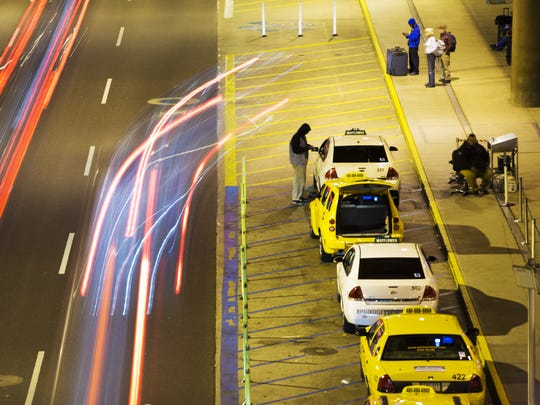 Taxi trips from Phoenix Sky Harbor International Airport are down since UberX and Lyft began picking up passengers there.