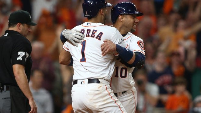 Will Carlos Correa, Yulie Gurriel and the Astros be celebrating again? Todd Rosiak sees them repeating as World Series champions, but Tom Haudricourt has the Yankees getting the best of them in the ALCS this season.