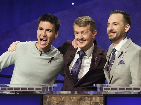"James Holzhauer, Ken Kennings and Brad Rutter are competing for glory, and a $1 million prize, on ABC's 'Jeopardy! Greatest of All Time"" tournament."