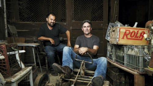 "Frank Fritz, left, and Mike Wolfe of History channel's ""American Pickers"" are looking for new places to pick in Pennsylvania."