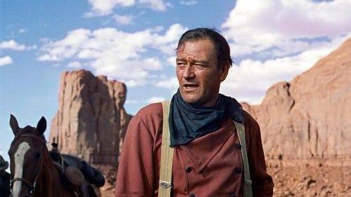"John Wayne stars in ""The Searchers."""