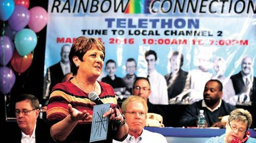 Carmel Haueter is always visible at the Rainbow Connection Telethon.