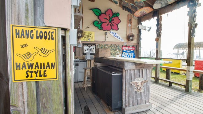 The Shaka Bar at the Ahola Wine & Liquor store in Pensacola Beach on Wednesday, February 7, 2018.  The owners of the Sandshaker Lounge are suing the owners of The Shaka Bar over trademark infringement claiming the names are too similar.