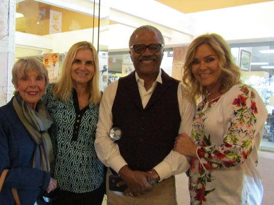 """(L-R) Patti MacLeod, Mary Lange, Ted Lange and Jill Whelan attend """"Happy Hour"""" with Gavin MacLeod."""