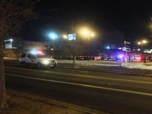 Police say four people were stabbed in a parking lot Thursday outside the Bronco-Chargers game.
