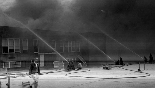 In 1964, McKinley school in Waite Park burned in a fire that had some characteristics similar to the June blaze at Roosevelt Education Center.