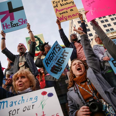 Thousands of women rally in Indy, vow to be heard