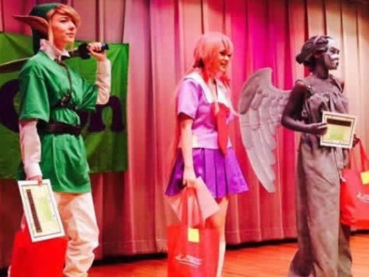 Photo courtesy of Abilene Public Library Teen contestants take part in the cosplay costume event during the 2015 Lib-Con.
