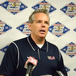 John Hughes, the new owner of the Binghamton Mets at a press conference on Monday announcing his ownership of the team.