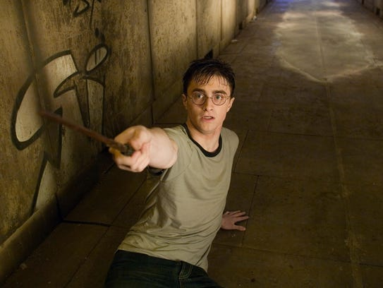 """Daniel Radcliffe as Harry Potter in""""Harry Potter and"""