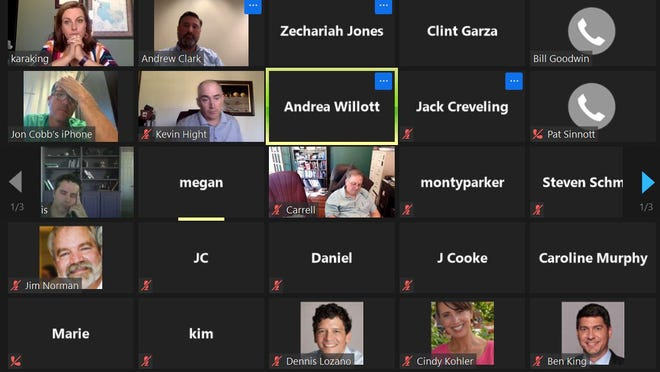 More than 60 people tuned into a special meeting May 18 via Zoom to listen to a discussion of whether or not Council Member Bill Goodwin violated the city charter.