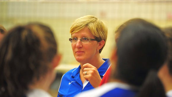 West Henderson volleyball coach Tiffany Lowrance.