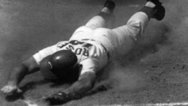 When Pete Rose's statue is built for Great American Ball Park, his pose will be diving to a base.