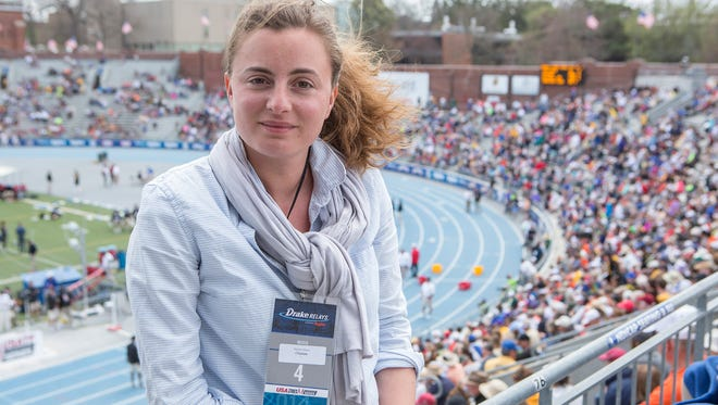 An international audience followed Iowa's premier track and field meet, thanks partly to French reporter Myriam Alizon. The 32-year-old Paris native covered last week's Drake Relays, primarily focusing on pole vault sensation Renaud Lavillenie.
