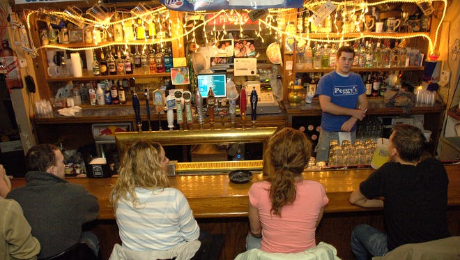 The bar at Peggy's Tavern located at 3020 Forrest Ave. in Des Moines.