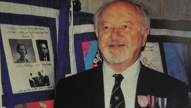 """Hanus Grosz, who escaped Czechoslovakia at the outbreak of WWII through a program called Kindertransport, is shown in a 1997 photo. A movie about the efforts of one Englishman who was instrumental in the program, Nicky Winton, who saved Mr. Grosz and many other Jewish children, called """"Nicky's Family"""" will be screened at the Jewish Community Center.  Copy of Grosz family photo."""