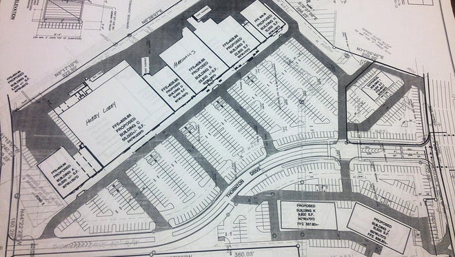 Design plans for the Crossings of Dickson that have been submitted to the city of Dickson.