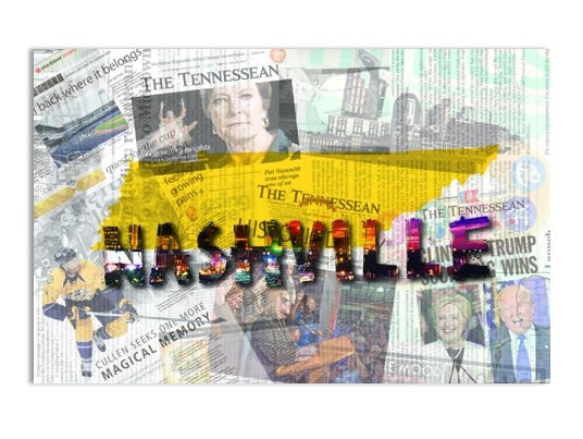 "Download 11x17"" frame-able prints featuring Tennessean pages."