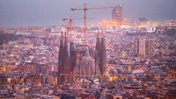 La Sagrada Familia stands over residential buildings on Oct. 26, 2015, in Barcelona, Spain. La Sagrada Familia Foundation announced on Oct. 21 that the temple has entered final construction phase. The first stone was laid on March 19, 1882, following the Neo-gothic design drawn up by architect Francisco de Paula del Villar y Lozan.