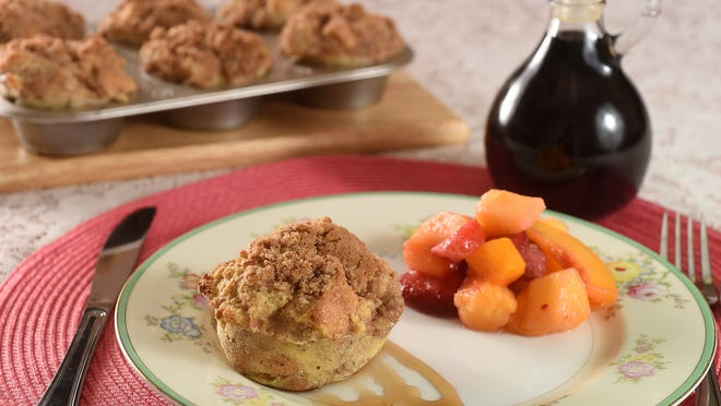 French Toast Muffins are the star of breakfast on Mother's Day.