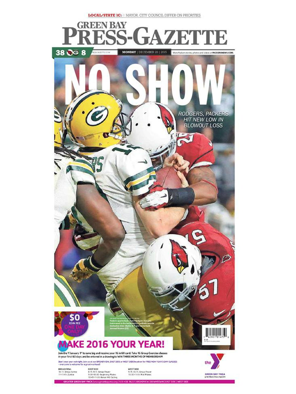 Game 15: Cardinals 38, Packers 8