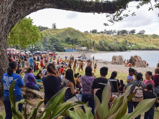 Crowds gather for the Guam History and Chamorro Heritage