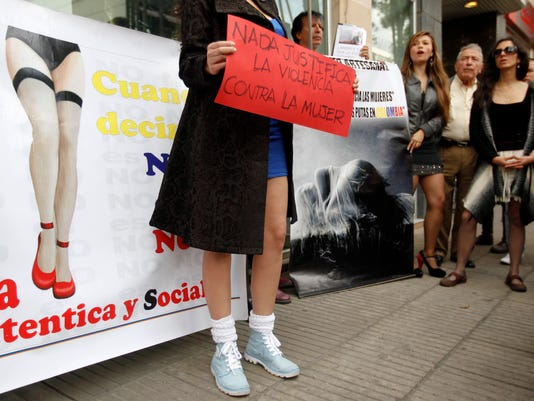 colombia violence against women protest