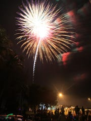 Fireworks light up the sky at a recent Cape Coral's