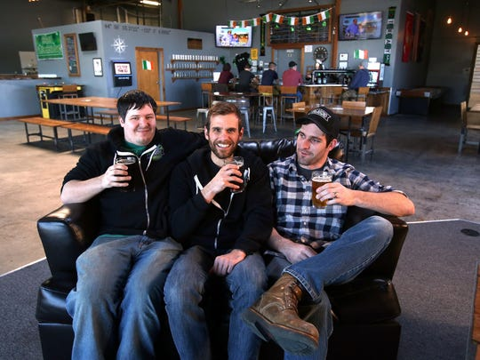 Vagabond Brewing owners James Cardwell, left, Alvin Klausen and Dean Howes.