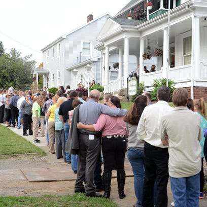Hundreds gathered to remember Hannah L. Lewis, one
