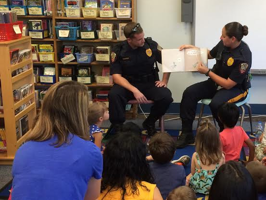 Officer Conroy and Office Casale met with several classes
