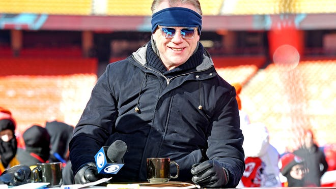 Jan 19, 2020; Kansas City, Missouri, USA; CBS NFL Today host Boomer Esiason before the AFC Championship Game between the Kansas City Chiefs and the Tennessee Titans at Arrowhead Stadium. Mandatory Credit: Denny Medley-USA TODAY Sports