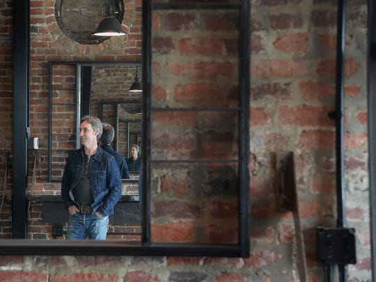 Just a block away from his Antique Archaeology store in Nashville, Mike Wolfe has renovated this 1898 brick building on Jo Johnston Ave.  Wolfe gives a tour of his building on Thursday. March 30, 2017. Restoration work started on dilapidated brick building in Nov. 2014.