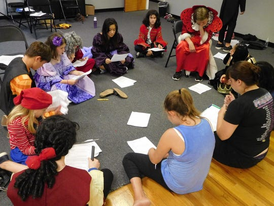 Young Actors Theatre campers worked collaboratively