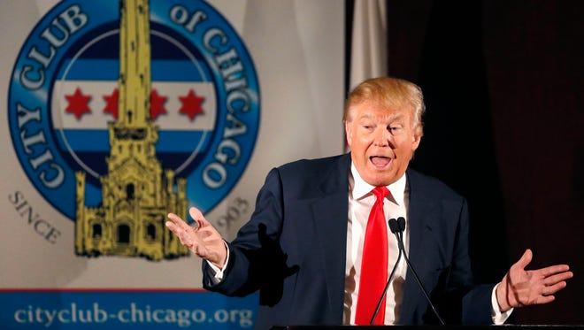 Donald Trump speaks to members of the City Club of Chicago June 29, 2015.