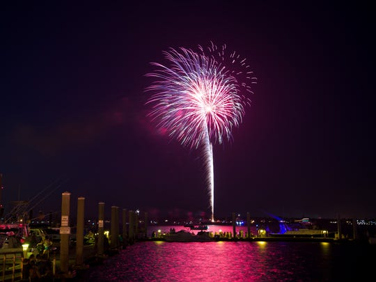 Many fireworks shows across the Treasure Coast can be viewed near the water.