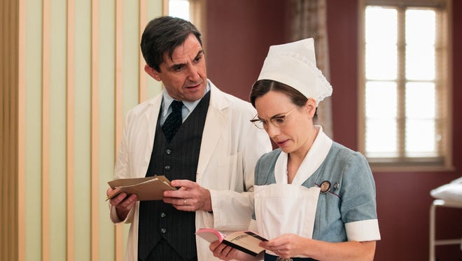 Stephen McGann as Dr Patrick Turner and Laura Main as Shelagh Turner in PBS's 'Call the Midwife.'