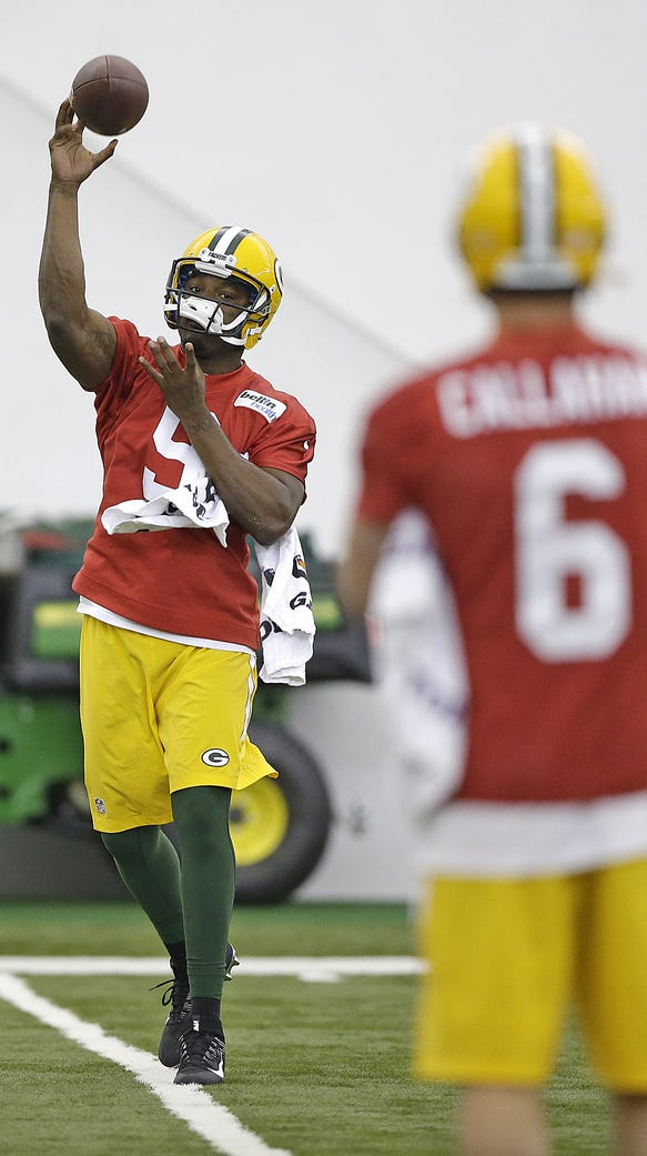 Green Bay Packers rookie quarterbacks Marquise Williams