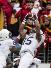 Connecticut defensive backs and best friends Marquis Wilson and Tyler Rudolph will look to have the same kind of impact at Penn State as these two guys. Grant Haley (15) and Marcus Allen (2) always seemed to be making big plays together.