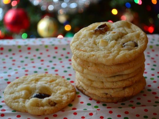 These Cranberry Orange Walnut White Chocolate Cookies