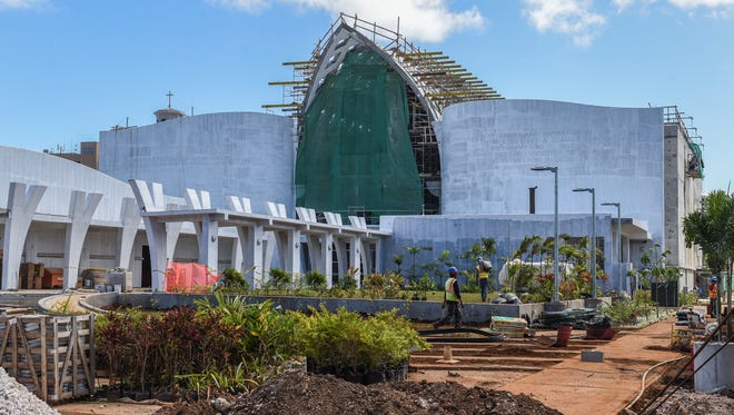 The Guam and Chamorro Educational Facility, or Guam museum, undergoes construction in Agana on Feb. 5. The museum was once on track to be completed by Dec. 28, according to Larry Toves, manager of the Real Property Division at the Guam Economic Development Authority.