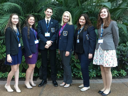 Parkview DECA chapter members earned the organization's