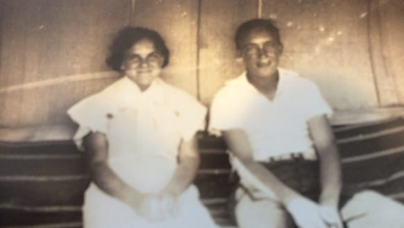 Wayne Clark, shown here with his sister, Delia, was