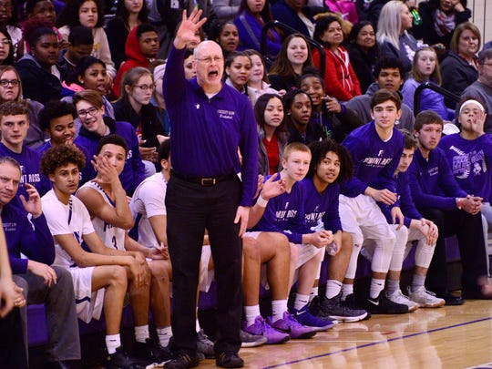 Coach Mark Gedeon led Fremont Ross to a win Friday over Toledo Central Catholic.