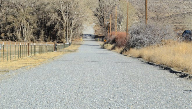 Gravel roads in Lyon County, such as this East Walker Road, will receive little or no grading if a proposal from county staff is accepted by the Lyon County Board of Commissioners for the 2015-16 budget.
