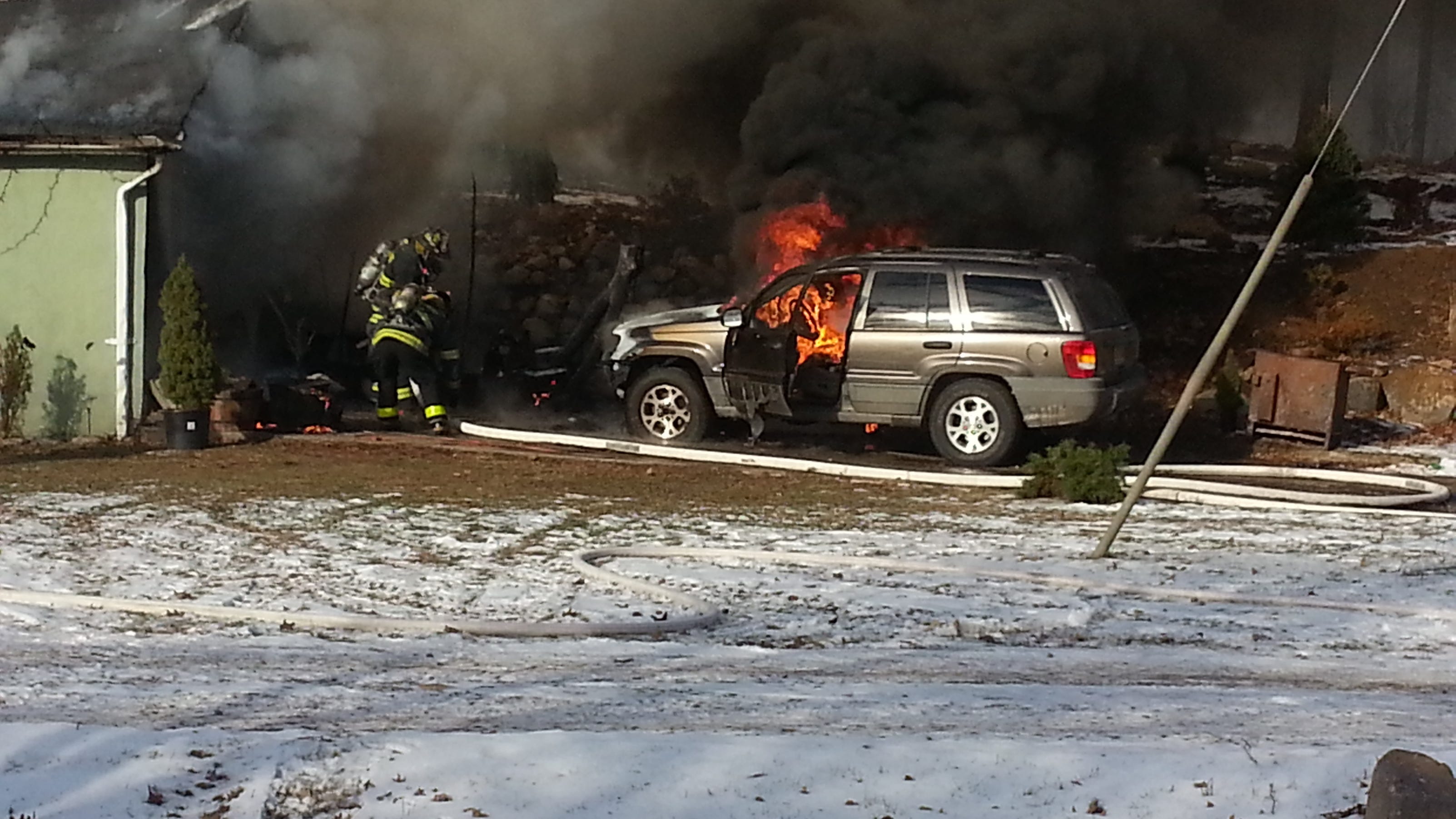 garage, car destroyed in rockaway twp. fire - daily record - meadow
