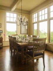 Huge windows throughout the house allow the view to be part of the home.