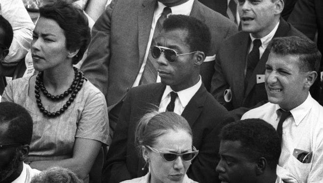 "The movie ""I Am Not Your Negro"" is based on the writings and observations of the late James Baldwin, center.  The film opened in Rochester on Friday."