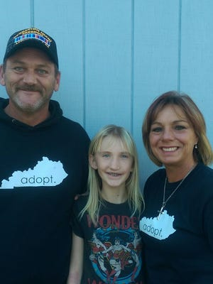 Lorie and Dwain Hargis and their daughter, Olivia, live in Cecelia, Ky.
