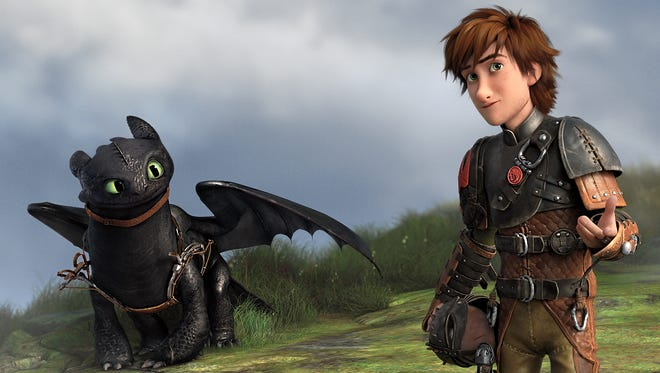 """Toothless in a scene from the animated motion picture """"How to Train Your Dragon 2."""""""